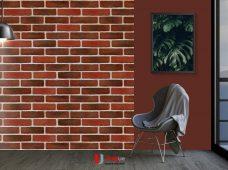 Pemasangan wallpaper motif christo 2