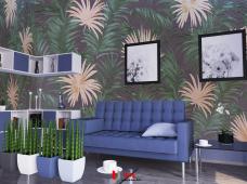 Pemasangan wallpaper motif Good Idea Privatea