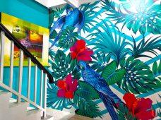 Pemasangan wallpaper custom di WA Clinic Denpasar