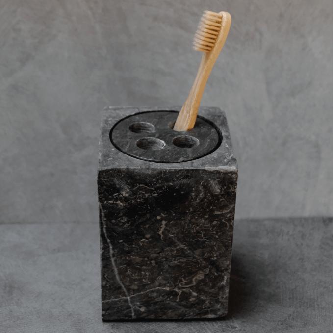 toothbrush holder grey marble