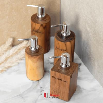 Natural Wooden Amenities Dispenser Variant