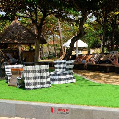aplikasi rumput sintetis inaya hotel and resort bali